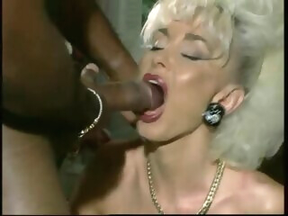 Vintage interracial anal sex with 1 busty blonde bitch big tits retro interracial